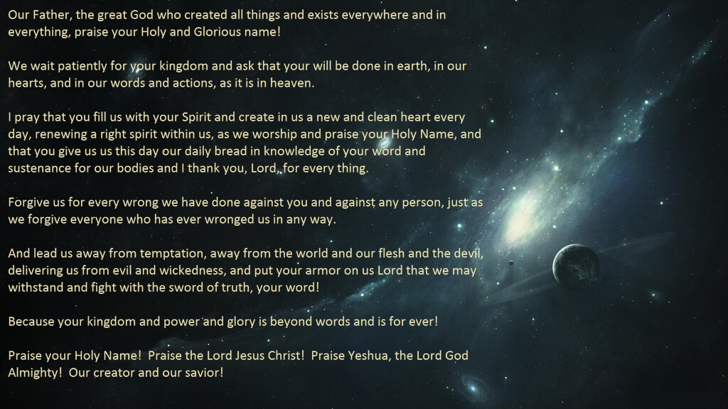 Lords Prayer - eNewsletter