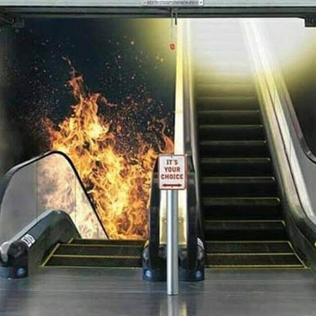 Burning stair or Glowing stair?