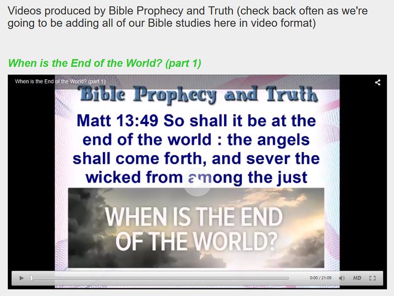Bible Prophecy and Truth Videos